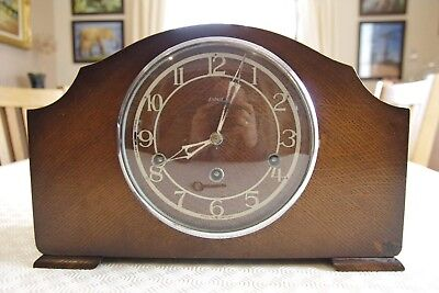 Enfield Westminster chime mantle clock with key. 1940s
