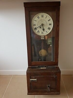 Vintage 1950s Gledhill Brook Clocking in Machine / Time Recorder