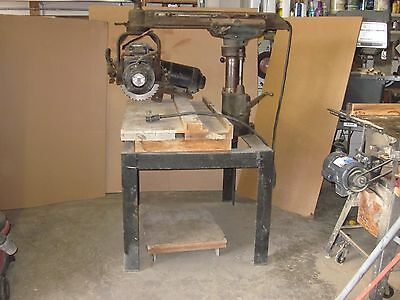 "Walker-Turner 12"" Radial Arm Saw & Stand - 2 Motors 110/220 & 220 3-phase"