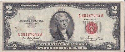 1953 $2 Two Dollar United States Note (Red Seal) (#1040)