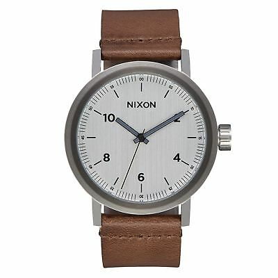 Nixon Stark Leather Homme Montre - Silver Saddle Une Taille