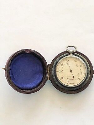 Rare English Immisch Silver Skin Thermometer