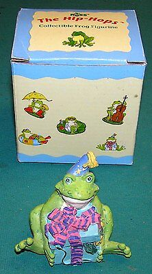 """RUSS Hip-Hops """"Party Amphibian"""" Birthday Frog Collectable Figurine #14221"""
