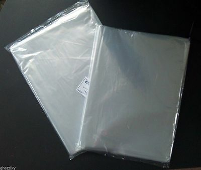 "1000 9 x 12"" Poly Clear Plastic Bags Open Top End Lay Flat 1 Mil"