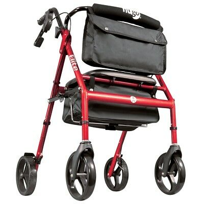 Bariatric Rollator Walker 4 Wheel Bariatic Rolator Heavy Duty With Seat Bag Best