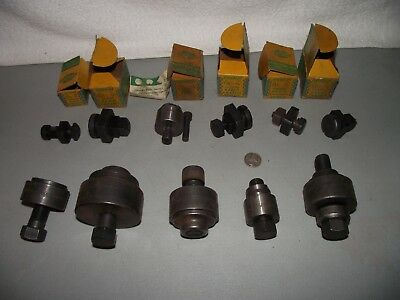 Lot of Vintage Greenlee Electric Metal Punches Square & Round Conduit Radio