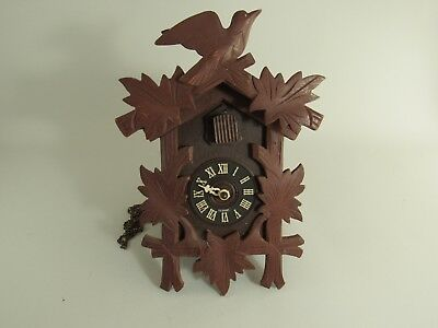 Vintage Black Forest Cuckoo Clock For Parts Or Repair As Is