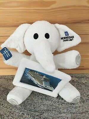 Norwegian Cruise Line Terry Cloth Elephant Towel Picture Frame 4 x 6 NCL