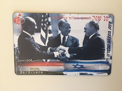 Israel Phone Card 20 Years For Israel And Egypt Peace Agreemnt
