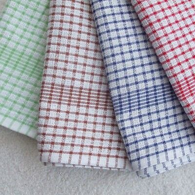 100% Cotton Tea Towels Set Kitchen Dish Cloths Cleaning Drying