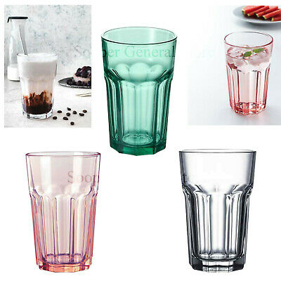 Drinking Tumbler Glasses Set Tall Colour Clear Juice Water Glassware 350ml Ikea