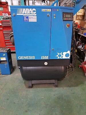 ABAC Genesis 1508 Receiver Mounted Rotary Screw Compressor, With Dryer