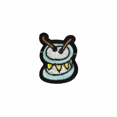 Drums (Iron On) Embroidery Applique Patch Sew Iron Badge