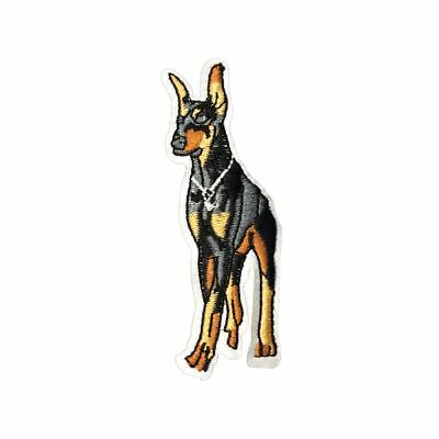 Doberman Dog (Iron On) Embroidery Applique Patch Sew Iron Badge