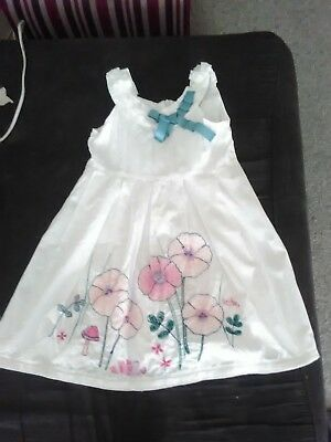 Jack& Milly white embroideted flower dress size 2