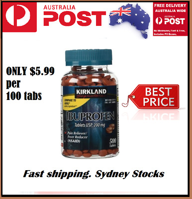 Kirkland IBUPROFEN 500 TABLETS 200mg Pain Reliever Inflammation Reducer Exp 3-20