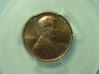 1972 Lincoln Cent DDO Double Die Obverse PCGS MS64RD