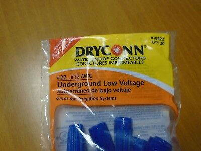 Dryconn Waterproof Wire Connector # 10222 (Pack of 20)