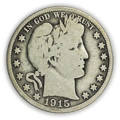 1915-S Barber Half Dollar, Large Silver Coin [3709.04]
