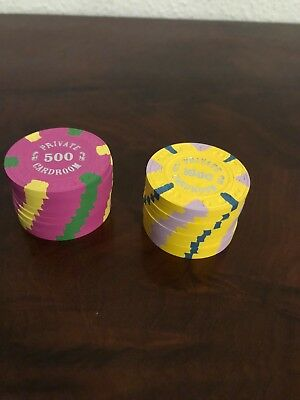 16 Paulson Private Card Room Poker Chips - NEW