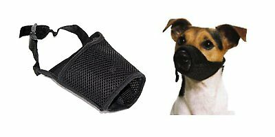 Adjustable Dog Safety Muzzle Muzzel Biting Barking Chewing in All Sizes
