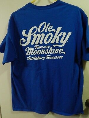 Ole smoky Tennessee Moonshine (XL) Cotton Front Pocket (T-SHIRT) Gatlinburg, TN
