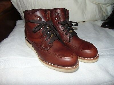 7ccf0caaea3 NEAR NU WOLVERINE 1000 Mile Brown EMERSON Hiking Work Lace up Boots 9 D $350