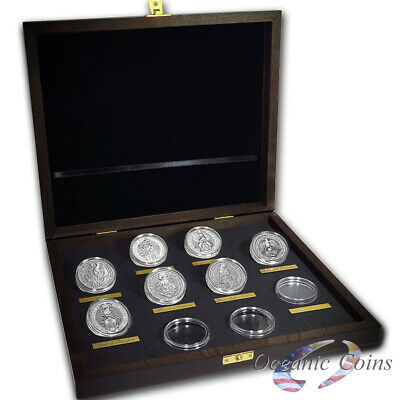 Collector Set-Queen`s Beasts Silver 7 Coins United Kingdom With Presentation Box