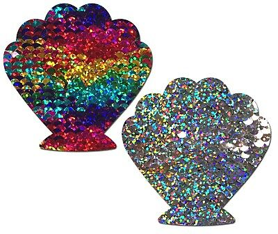 PASTEASE brand Pasties Sequined Shell Nipple Pasties, Buy 2 Get 1 Free