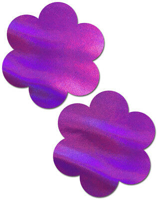 PASTEASE brand Pasties Holographic Flower Nipple Pasties, Buy 2 Get 1 Free