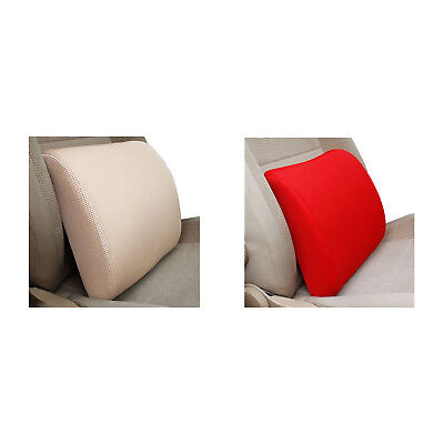 Car Office Home Memory Foam Seat Chair Lumbar Back Support Cushion Pillow Red W8