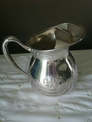 Essay Silverplated Water Pitcher Jug With Ice Catcher