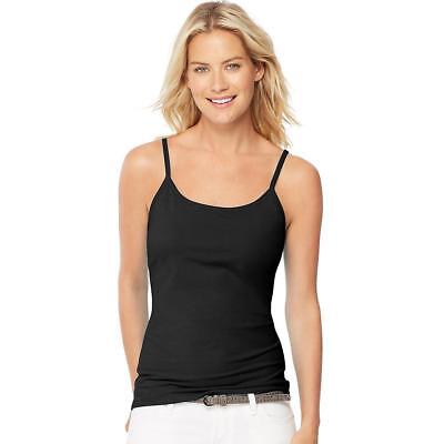 Hanes Women's Stretch Cotton Cami with Built-In Shelf Bra, Style O9342