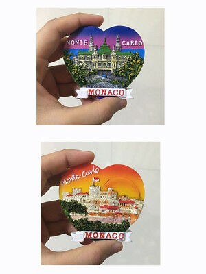 3D Resin Fridge Magnet Touris Travel Souvenir Memorabilia - Monte Carlo, Monaco