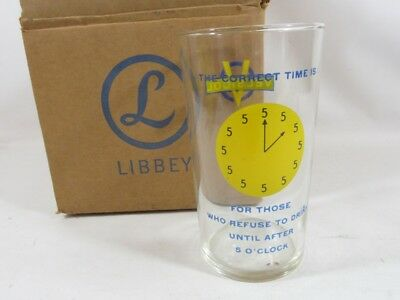 4 MID CENTURY 1960s  BOXED LIBBEY TUMBLERS, VELSICOL, FOR DRINKERS AFTER 5PM