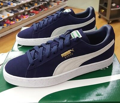 detailed look 7b406 f14e4 PUMA SUEDE CLASSIC+ 356568 51 Navy Peacoat/White Men's Us Sz 9.5