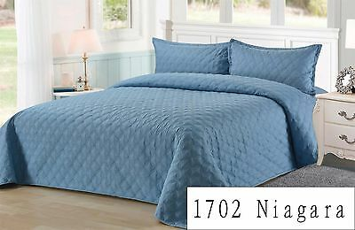 [Supersave]Emboss Bedspread//Coverlet/Throw-Single Double Queen King Bed NL1702