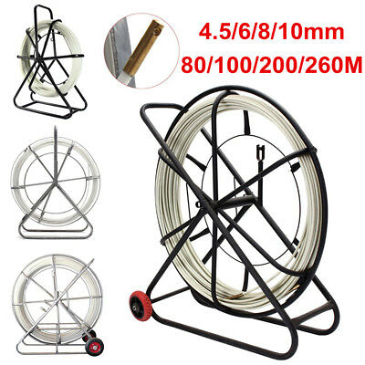 4.5/6/8/10mm Fiberglass Cable Wire Fish Tape Running Rod Duct Rodder Puller Tool