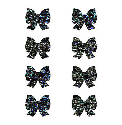 PASTEASE brand Pasties Mini Glitter Bows 8pk, Buy 2 Get 1 Free