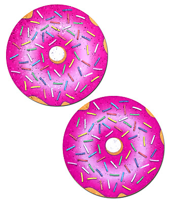 PASTEASE brand Pasties Pink Glitter Donut Nipple Pasties, Buy 2 Get 1 Free