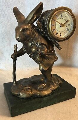 French Country Rabbit Traveler ~ W/ Clock ~ Antique Reproduction (New Old Stock)