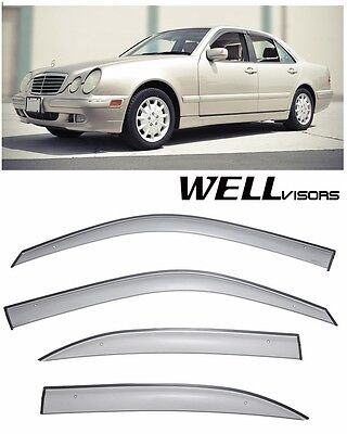 WellVisors Premium Series Side Window Visors For 96-02 Mercedes Benz E-Class
