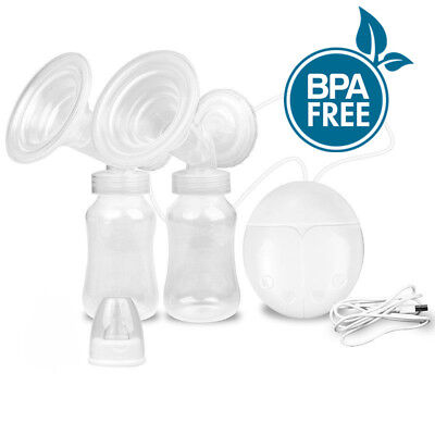 Electric Breast Pumps Milk Suction Portable BPA-free Silicone Breastfeeding