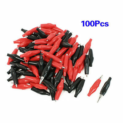 100Pcs  Alligator Leads Crocodile Test Clip for Electrical Jumper Wire Cable PR