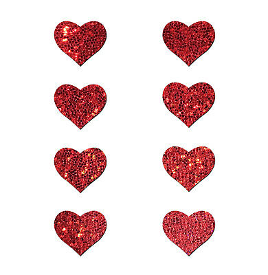 PASTEASE brand Pasties Glitter Mini Hearts 8 per pack, Buy 2 Get 1 Free