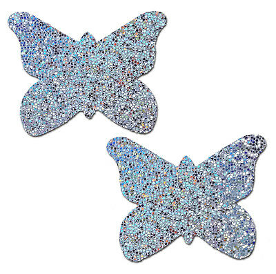 PASTEASE brand Pasties Glitter Butterfly Nipple Pasties, Buy 2 Get 1 Free