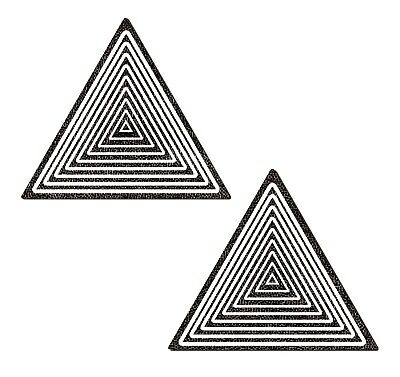 PASTEASE brand Pasties Trippy Triangle Glitter Pattern Nipple Pasties
