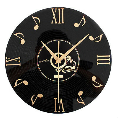 Golden Days Classic Wall Clock Musician Retro Black CD Art Watch Home Decor