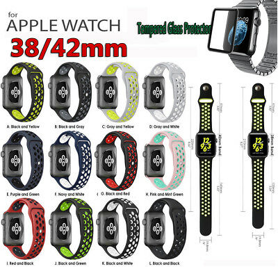 Silikon Ersatz Band Armband/Cover Case für Apple Watch I Watch38/42mm Series123