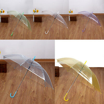 Hot Large Clear Dome Transparent Umbrella Parasol  Ladies Wedding Party Decor